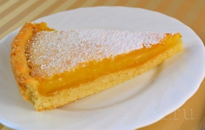 Пирог лимонный из песочного теста с начинкой рецепт с